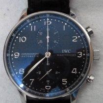 IWC Portuguese Chronograph Aço Preto Árabes Portugal, Lisboa