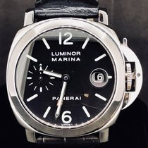 Panerai Luminor Marina Automatic Staal 40mm Zwart Arabisch