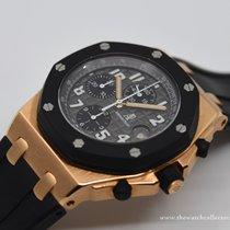 Audemars Piguet Roségoud Automatisch Grijs Arabisch Royal Oak Offshore Chronograph