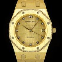 Audemars Piguet Royal Oak Oro amarillo 34mm Champán Sin cifras
