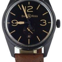 Bell & Ross Vintage pre-owned 41mm Black Date Calf skin