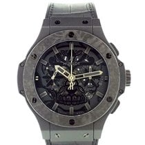 Hublot Big Bang Aero Bang pre-owned 44mm Black Leather