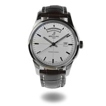 Breitling Transocean Day & Date Steel 43mm Silver No numerals United States of America, Massachusetts, Andover