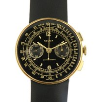 Rolex Oro amarillo Cuerda manual Negro 31mm usados Chronograph