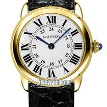 Cartier Ronde Solo de Cartier Gelbgold 29.5mm Silber