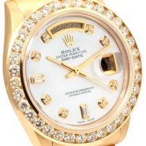 Rolex 18K Yellow Gold Custom MOP Diamond Dial & CH Set...