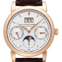 A. Lange & Söhne Red gold Automatic Silver No numerals 38,5mm new Saxonia