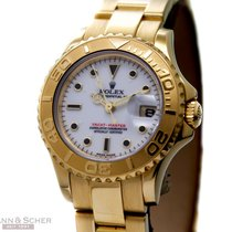 Rolex Yachmaster Lady Ref-169628 18k Yellow Gold Box Papers...