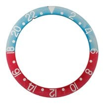 Rolex Pepsi insert for plexi GMT, faded