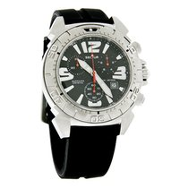Sector Diver Mens Black Dial Swiss Chrono Rubber Band Watch...