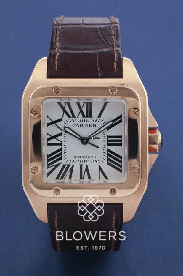08a3d540178 Cartier Santos 100 - Todos os preços de relógios Cartier Santos 100 na  Chrono24