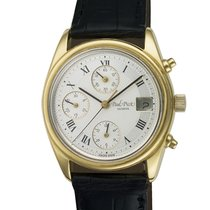 Paul Picot Chrono Date 18k Silver dial 36mm auto watch