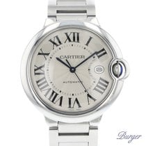 Cartier Ballon Bleu 42mm Сталь 42mm Cеребро Римские