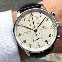 IWC Portuguese Chronograph Ocel 41mm Stříbrná Arabské Česko, Praha