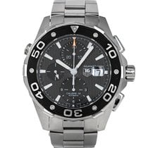TAG Heuer Aquaracer 500M pre-owned 44mm Black Chronograph Date Steel
