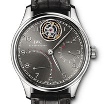 IWC Black pre-owned Portuguese Tourbillon