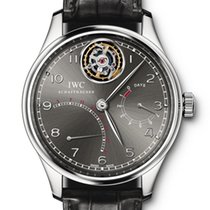 IWC Portuguese Tourbillon pre-owned Black Fold clasp