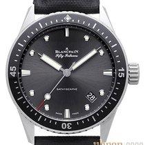Blancpain Fifty Fathoms Bathyscaphe neu 2019 Automatik Uhr mit Original-Box und Original-Papieren 5000-1110-B52A