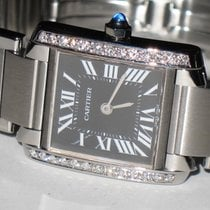 Cartier Tank Française Steel 20mm Black Roman numerals United States of America, New York, Wantagh