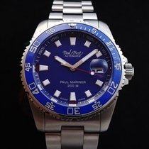 Paul Picot Paul Mariner III Acero 42mm Azul