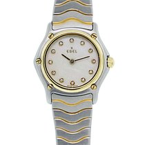 Ebel Wave Two Tone Diamond Mother Of Pearl Dial Ladies Watch