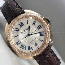 Cartier - Cle De WGC0004 Customized Diamond Bezel White Dial RG