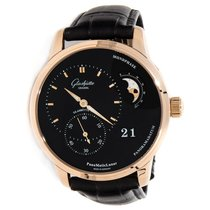 Glashütte Original PanoMaticLunar 1-90-02-49-35-30 Glashutte PanoMaticLunar Quadrante nero new