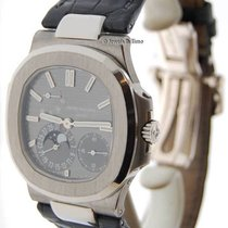Patek Philippe Nautilus 18k White Gold Mens Automatic Watch...