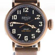 Zenith Bronze Remontage automatique Noir Arabes 45mm nouveau Pilot Type 20 Extra Special