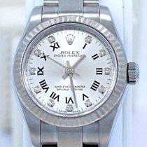 Rolex Oyster Perpetual 176234 18k W Gold Bezel Factory Diamond...