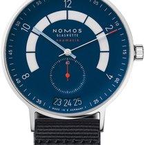 NOMOS Autobahn Steel 41mm Blue United States of America, New York, Airmont