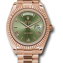 Rolex Day-Date 40 Rose gold 40mm Green Roman numerals UAE, DUBAI (By Appointment 10am-10pm)