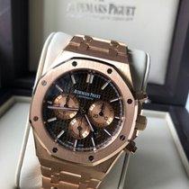 Audemars Piguet Royal Oak Chronograph gebraucht 41mm Braun Chronograph Datum Roségold