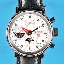 Alain Silberstein Chronograph 38mm Automatik 1993 gebraucht Weiß