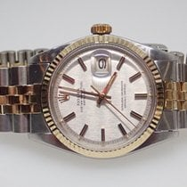 Rolex Datejust 1971 14k SS 2 Tone Silver Dial Mens Watch Ref...