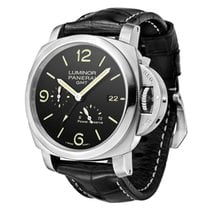 d430380a88d Panerai Aço Automático 44mm Luminor 1950 3 Days GMT Power Reserve Automatic