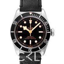 Tudor Heritage Black Bay Black Steel/Leather 41mm - 79230N