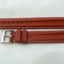 Omega Double Ridged Red Leather Band And Buckle 18mm. Authentic