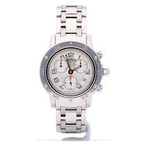 Hermès Clipper Stahl 36mm Silber Arabisch