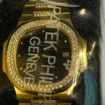 Patek Philippe Nautilus Yellow Gold Diamond Bezel - 3700/13