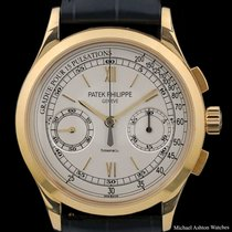 Patek Philippe Chronograph Yellow gold 39mm Silver Roman numerals United States of America, New York, New York