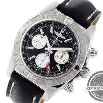 Breitling Chronomat 44 GMT Stahl 44mm Schwarz Keine Ziffern