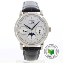 A. Lange & Söhne pre-owned Automatic 38.5mm Silver Sapphire Glass