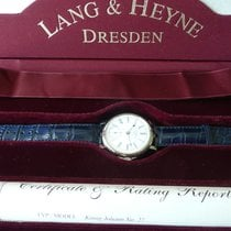 Lang & Heyne Ouro branco 43,5mm Corda manual lang &. Heyne king Johann novo