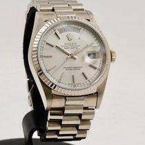 Rolex Day-Date 36 Oro blanco 36mm Plata Sin cifras