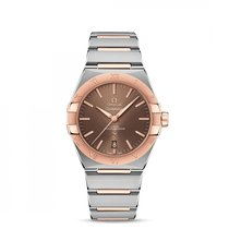 Omega Constellation Staal 39mm Bruin