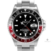 Rolex GMT-Master II Stainless Steel Black Dial Black and Red...