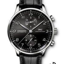 IWC Portuguese Chronograph Staal 40.9mm Zwart Arabisch