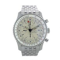 Breitling Navitimer World Steel 44mm Champagne Arabic numerals