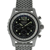 Breitling Chronospace Stainless Steel Volcano Black Dial On...